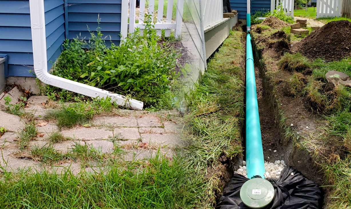 + Learn more about French Drain and Downspouts